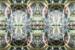 Light bulbs arranged symmetrical on a mirror