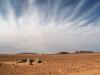 Dramatischer Himmel über der Wüste